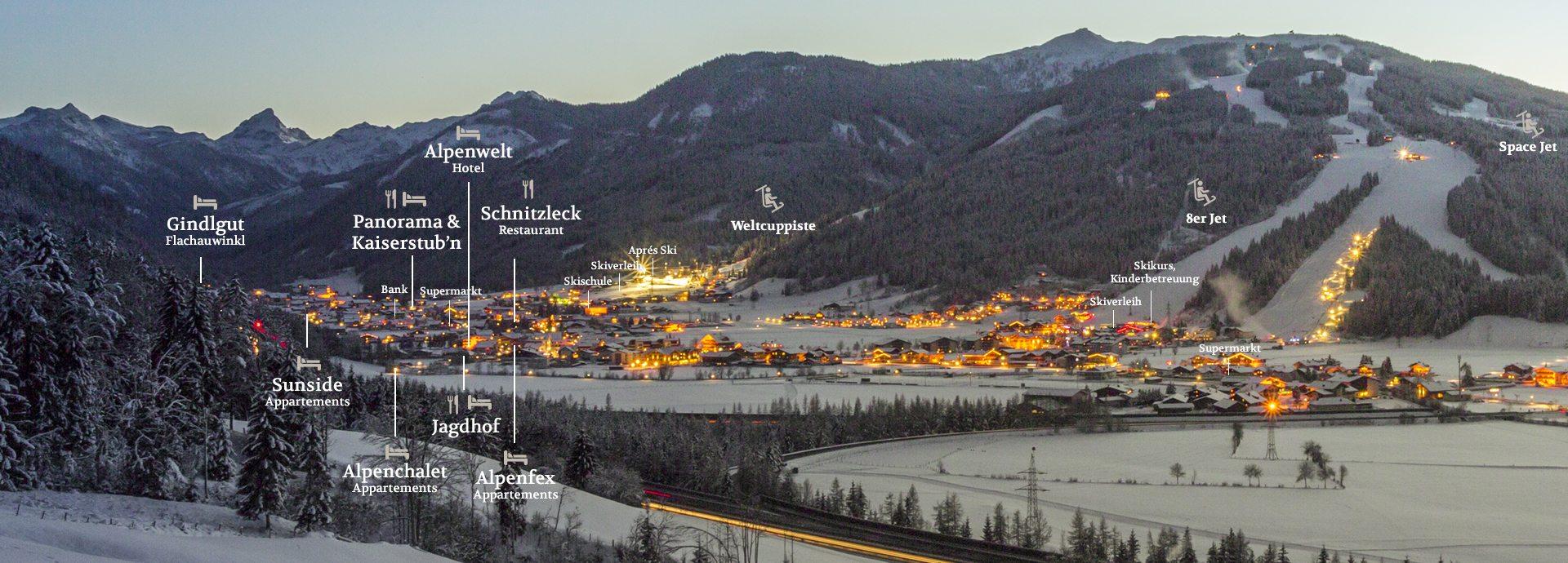 Übersichtsplan Flachau - Flachauer Urlaubswelt